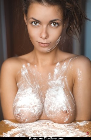 Image. Sexy amateur naked hot lady with medium natural boob pic
