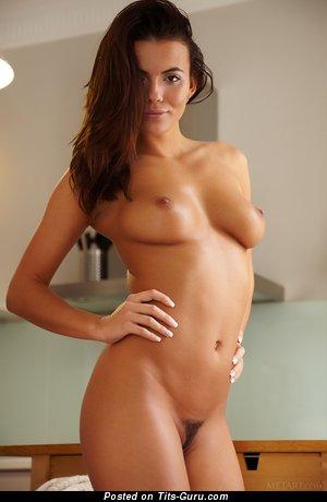 Vanessa Decker - Wonderful Czech Brunette with Wonderful Bare Natural Medium Sized Chest (Hd Sex Image)