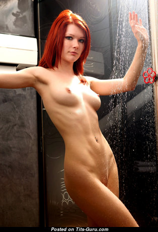 Lovely Undressed Red Hair in the Shower (4k Sex Foto)