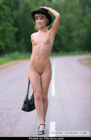 Judy - naked awesome lady with small natural tots image
