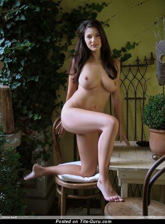 Anita Queen - Sexy Czech Pornstar with Sexy Open Real Substantial Knockers (Porn Wallpaper)