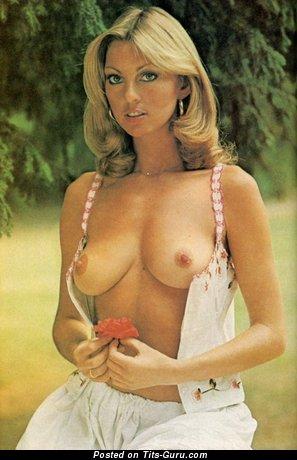 Изображение. Gillian Duxbury - изображение красивой раздетой блондинки с натуральными сисечками ретро