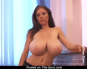 Image. Naked hot lady with huge natural tits gif