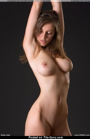 Naked hot woman with big natural tits photo