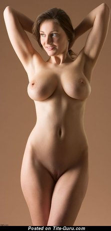 Nude beautiful female with big natural tittes photo