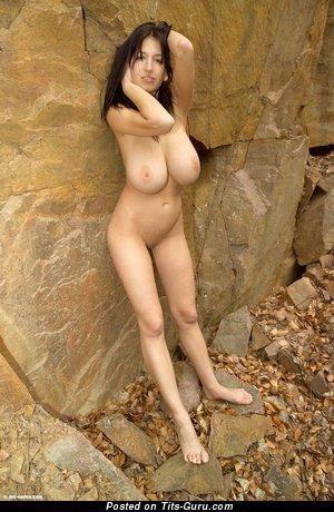 Jana Defi - Cute Czech Brunette with Cute Nude Natural H Size Tits (Hd Sex Wallpaper)