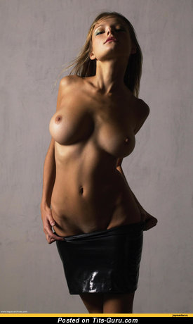 Stunning Lassie with Stunning Bald G Size Tits (Hd 18+ Picture)