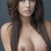 Alexa Varga - brunette with medium natural breast and big nipples image