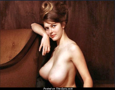 Naked wonderful lady with natural breast photo