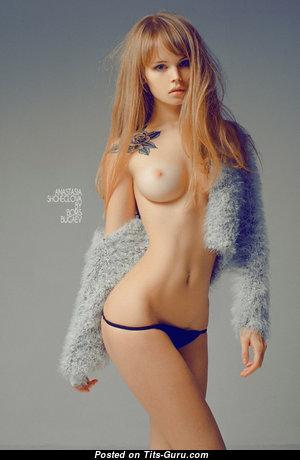 Anastasia Shcheglova - Graceful Nude Blonde with Tattoo (Hd Porn Foto)