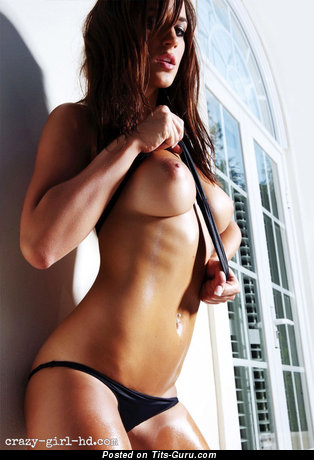 Image. Sexy naked brunette with big nipples picture