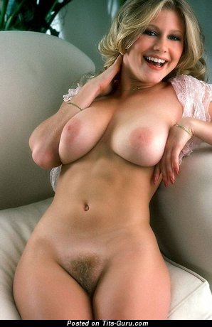 Image. Sexy nude blonde with big natural tots vintage