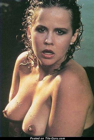Image. Linda Blair - sexy wet nude awesome girl with medium natural breast picture