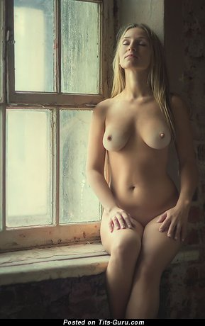 Image. Naked awesome lady with natural boobies photo