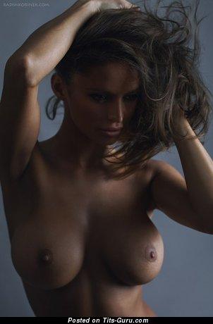 Dana Hatonova - Exquisite Brunette Babe with Exquisite Exposed Real Tots (Xxx Pic)