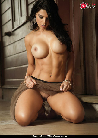 Charming Latina Brunette with Charming Defenseless Silicone Full Tittys (18+ Image)