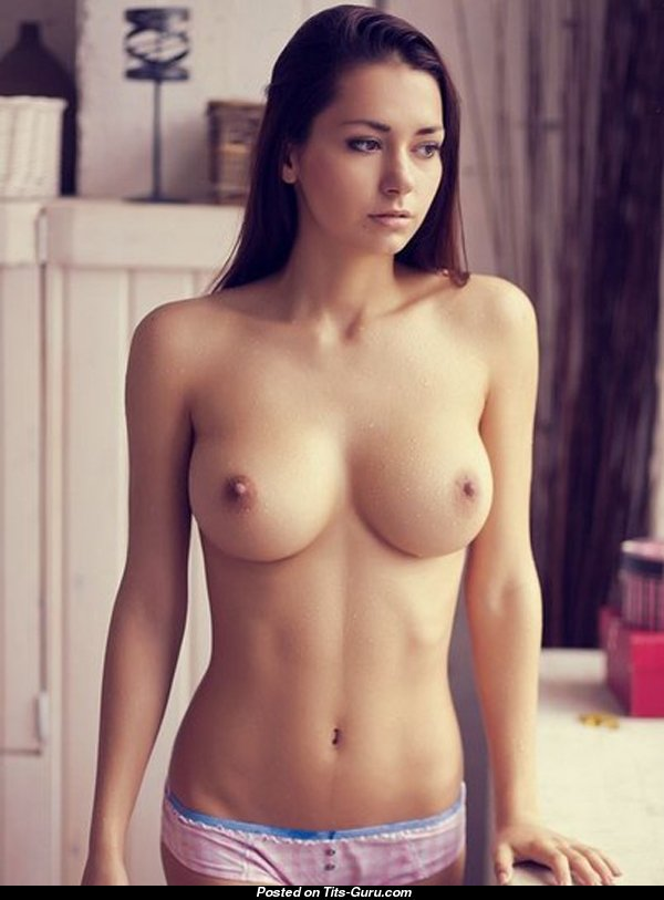 Helga Lovekaty - nude nice woman with medium natural tits ...