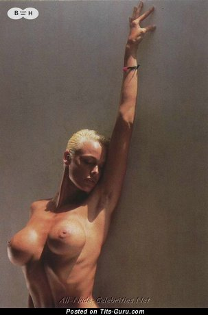 Brigitte Nielsen - The Best Danish Blonde Actress with The Best Bald Fake Medium Sized Boobs (Porn Picture)