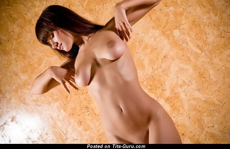 Image. Naked beautiful female with medium boob photo