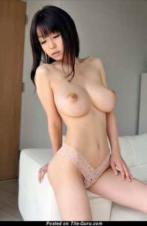 Image. Miina Kanno - sexy nude asian brunette with medium natural tots image