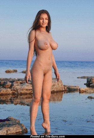 Alluring Naked Brunette on the Beach (Hd Xxx Pix)