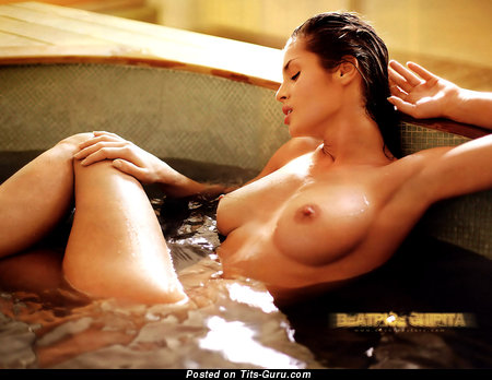 Beatrice Chirita - Good-Looking Wet Brunette Babe with Good-Looking Exposed Real G Size Tittys in the Shower (Hd Porn Picture)