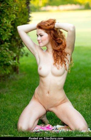 Heidi Romanova - Beautiful Latvian Red Hair Babe & Pornstar with Beautiful Exposed Natural Regular Titties (Hd 18+ Photo)