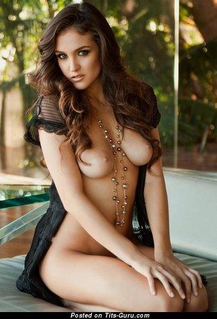 Image. Sexy nude brunette image