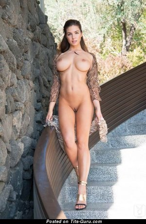 Image. Naked awesome female with natural tittes picture