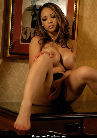 Image. Naked ebony with big tittes picture