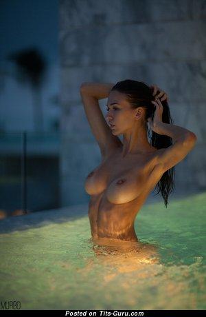 Anastasia Martzipanova - sexy wet nude beautiful girl with medium tits picture