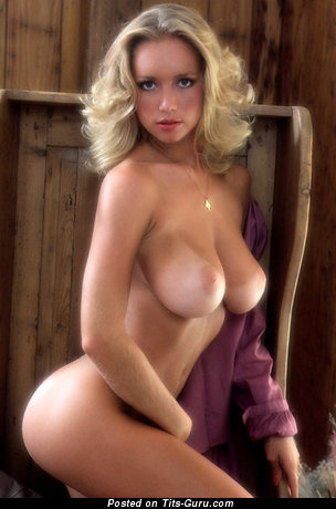 Image. Kym Malin - sexy nude blonde with big natural tots vintage