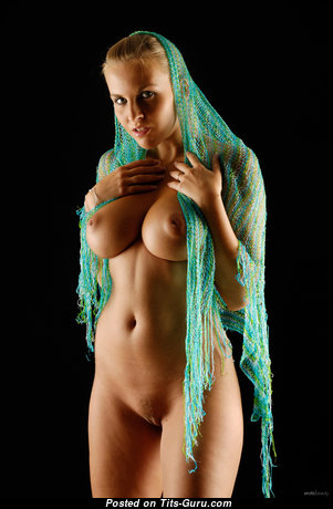 Cikita Aka Chikita - Amazing Blonde Babe with Dazzling Exposed Real Med Jugs (Hd Xxx Photoshoot)