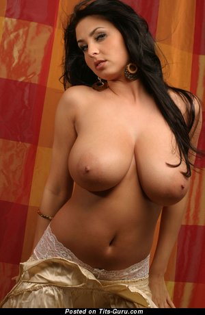 Image. Ewa Sonnet - brunette with huge natural tits image