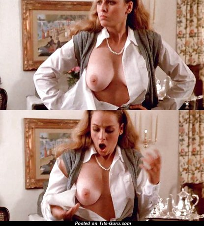 Virginia Madsen - Grand Topless American Blonde Actress with Grand Exposed Real Busts & Tan Lines (Porn Wallpaper)