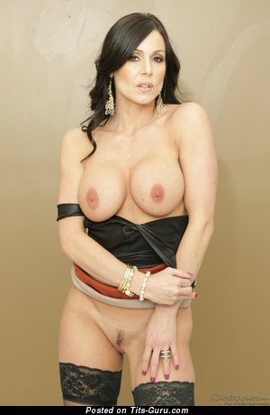 Kendra Lust - sexy topless brunette with medium tots photo