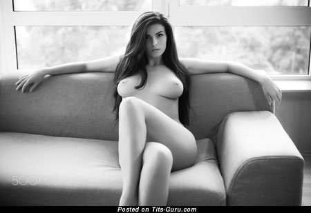 Naked awesome girl with medium natural breast pic