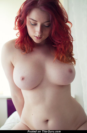 Exquisite Dame with Handsome Nude Natural Mega Melons (Xxx Photo)