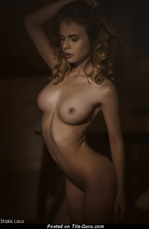 Alexandra Smelova - sexy naked beautiful girl with medium natural tots photo