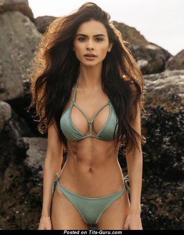 Sophia Miacova - Appealing Non-Nude Latina Brunette Babe in Bikini (Hd 18+ Picture)