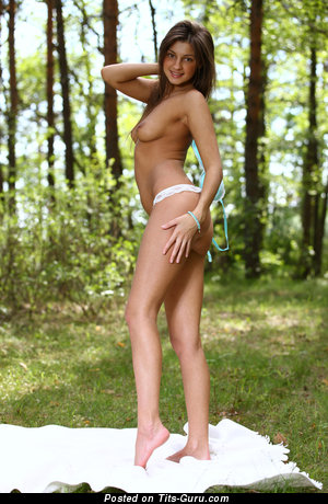 Image. Malena - nude brunette with small natural boobies picture