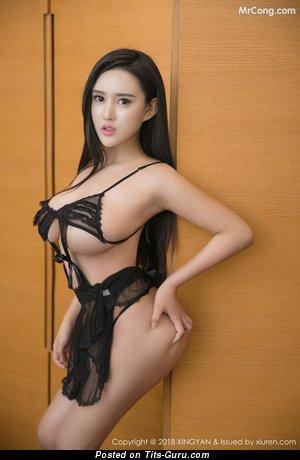 Bai Yi Han - amateur nude asian brunette with big boobies pic