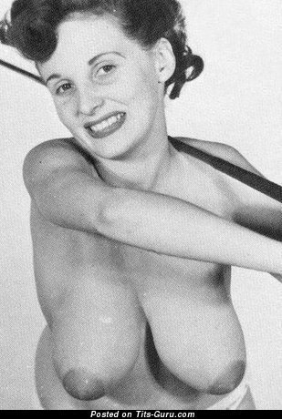 Donna May Brown - Cute Doxy with Cute Nude Real D Size Boobys & Pointy Nipples (Vintage Sexual Pix)