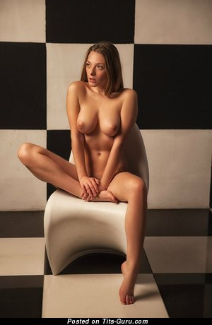 Image. Olga Kobzar - sexy topless amateur wonderful girl with natural tots picture