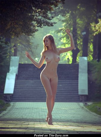 Image. Nude nice female with medium boobies picture