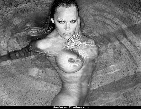 Nude hot female with big fake tits picture