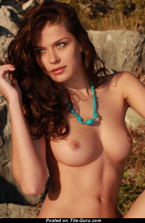 Image. Nude wonderful girl with medium natural boobs picture