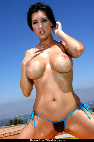 Good-Looking Woman with Good-Looking Open Fake Sizable Chest (18+ Image)