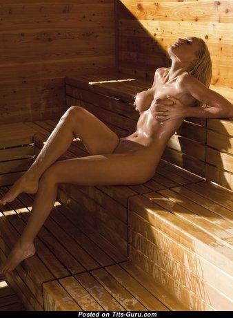 Alena Gerber - Pleasing Unclothed German Blonde (Sex Image)
