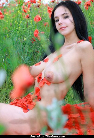 Image. Naked wonderful woman with medium natural tittes photo